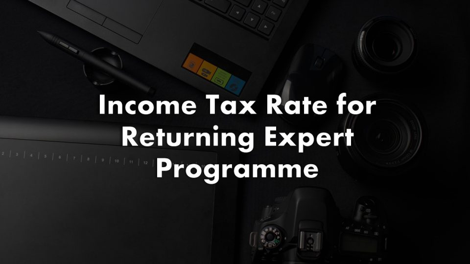 Income Tax Rate for Returning Expert Programme